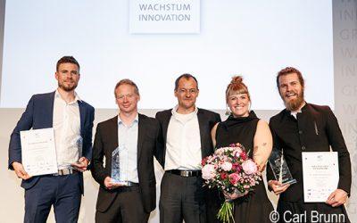 Auf der Siegertreppe beim diesjährigen Wachstumswettbewerb der Gründerregion: Die SPT Production GmbH